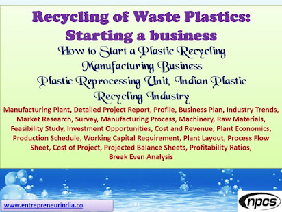 Business plan for plastic recycling company
