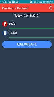 Fraction to Decimal Converter - náhled