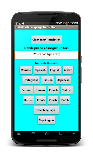 Babel Fish Language Translator