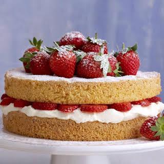 Strawberry Cream Sponge Cake.
