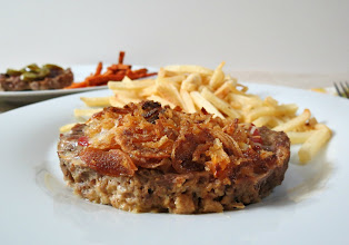 Photo: Baked Burgers - An easy, moist traditional meatloaf recipe portioned out to please every pallet in your family  http://www.peanutbutterandpeppers.com/2012/12/01/baked-burgers/  #burger   #meatloaf   #dinnerrecipes   #beef