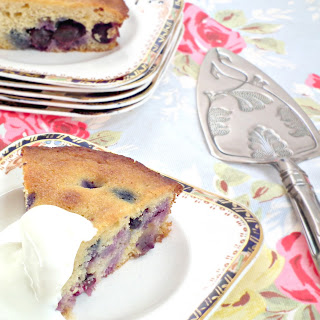 Blueberry and Almond Polenta Cake