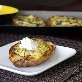 Spinach Artichoke Potato Skins