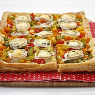 Veg and Soft Cheese Rectangular Tart