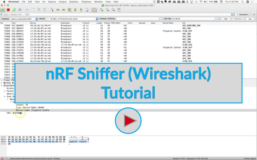 nRF Sniffer (Wireshark) Tutorial Image