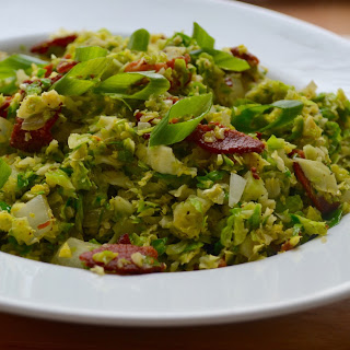 Shredded Brussel Sprouts with Bacon.