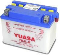YUASA MC batteri YB4L-B lxbxh=120x70x92mm