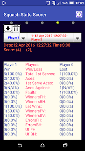 Squash Match/Stats Scorer- screenshot thumbnail