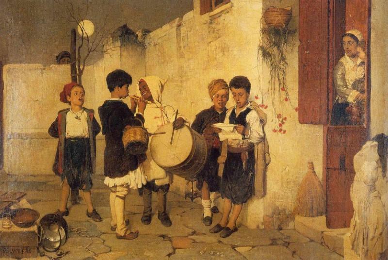 Κάλαντα, Νικηφόρος Λύτρας, 1872. Ιδιωτική Συλλογή.jpg