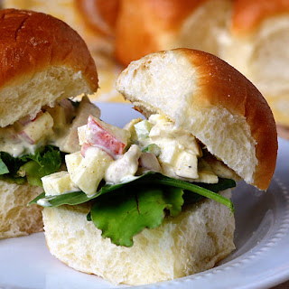 Curry Chicken Salad Sliders.