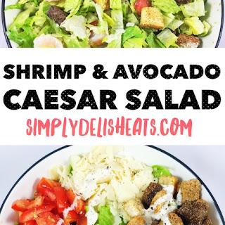 Shrimp & Avocado Caesar Salad