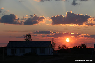 Photo: Sunrise at the Karasuk research station