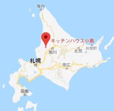 地図:キッチンハウス小島