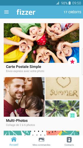 Fizzer - Postcard Android App Screenshot