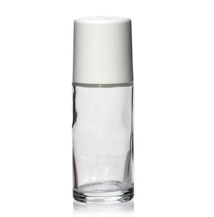 Glasflaska med roller - 50 ml