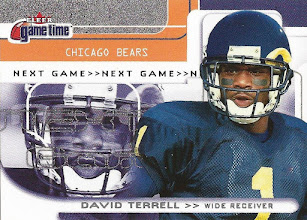 Photo: David Terrell 2001 Fleer Game Time RC (#0069/2001)