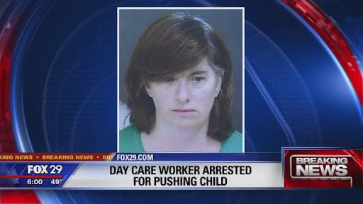 Video: Daycare worker shoves 4-year-old down a flight of stairs