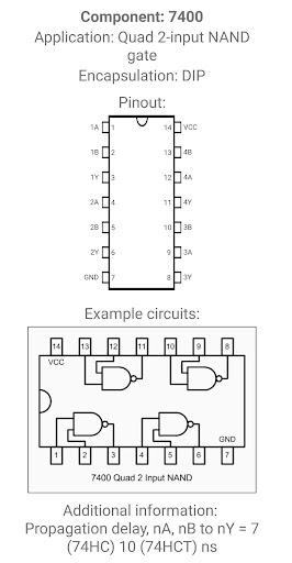 Electronic Component Pinouts Free 12.0 screenshots 7