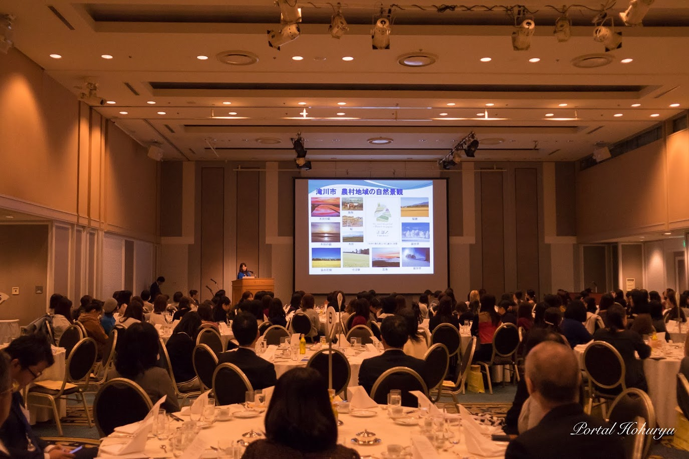 ひまわり油を知るセミナー&味わうランチ会(札幌市)に200名以上が参加してひまわり油を味わう