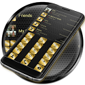 Dialer Metal Gold Dots Theme icon