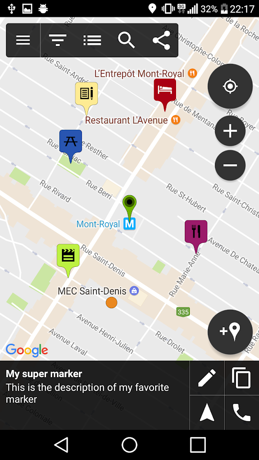 dating app location marker