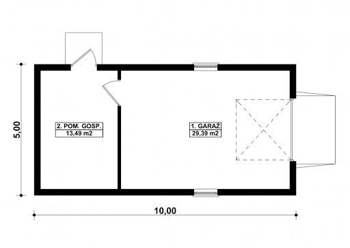 G93 - Rzut garażu