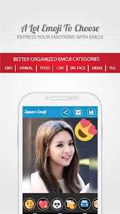 1 Square Emoji Sticker - Photo App screenshot