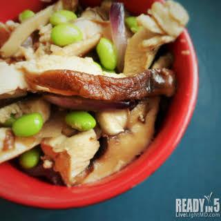 Chicken Shiitake Mushroom Stir Fry.