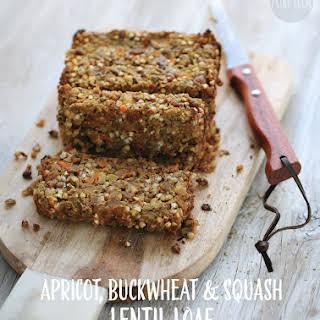 Apricot, Buckwheat and Squash Lentil Loaf.