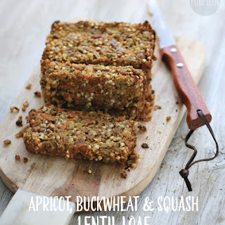 Apricot, Buckwheat and Squash Lentil Loaf.