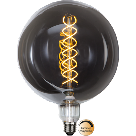 Led Lampa E27 Industrial Vintage G200 Heavy Smoke