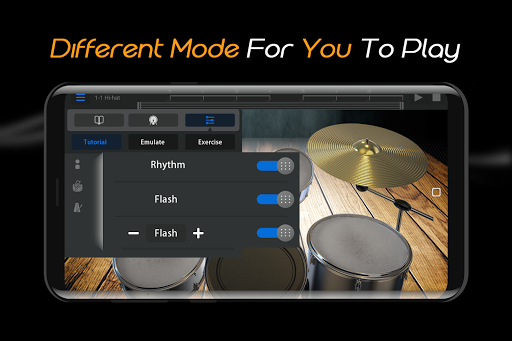 Easy Real Drums-Real Rock and jazz Drum music game 1.2.4 Mod screenshots 5