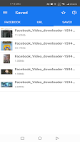 screenshot of video downloader for Facebook