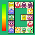 Connect: cute monsters and food. Free casual game icon
