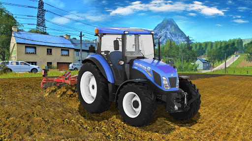 Real Farm Town Farming Simulator Tractor Game  captures d'écran 1