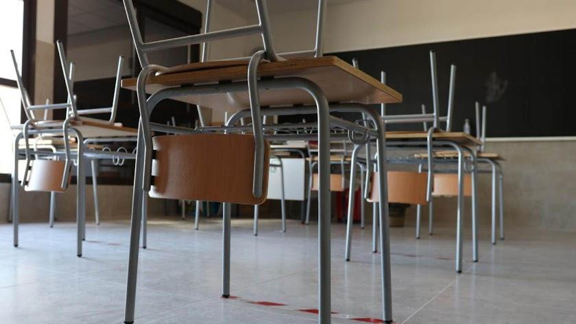 En Almería hay 46 aulas cerradas por contagios de coronavirus.