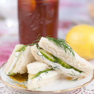 English Cucumber and Dill Tea Sandwiches.