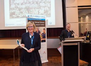 Photo: Judy Moore, Gastroenterology PhD candidate, was runner up. http://www.med.monash.edu.au/cecs/events/2015-tr-symposium.html