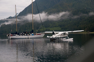 Photo: Transfer from float plane to the Ocean Light II