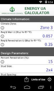 AWC Energy UA Calculator- screenshot thumbnail