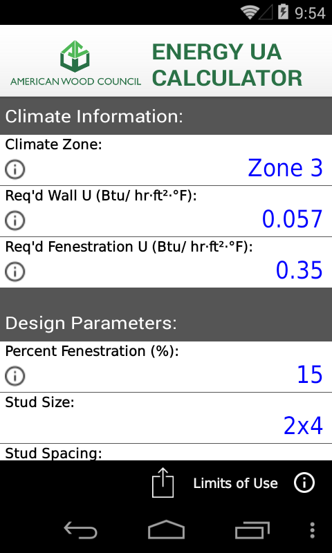 AWC Energy UA Calculator- screenshot