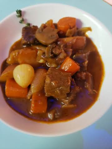 Crock Pot Beef Bourguinon