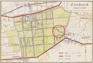 Photo: 1911 Toeristische kaart van het Liesbos