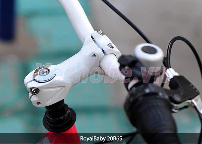 cấu tạo tay lái xe đạp royalbaby RB20B-6s