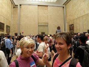 Photo: Tamhle je! Ale ten dav nás děsí (La Joconde, Monna Lisa - Musée du Louvre)