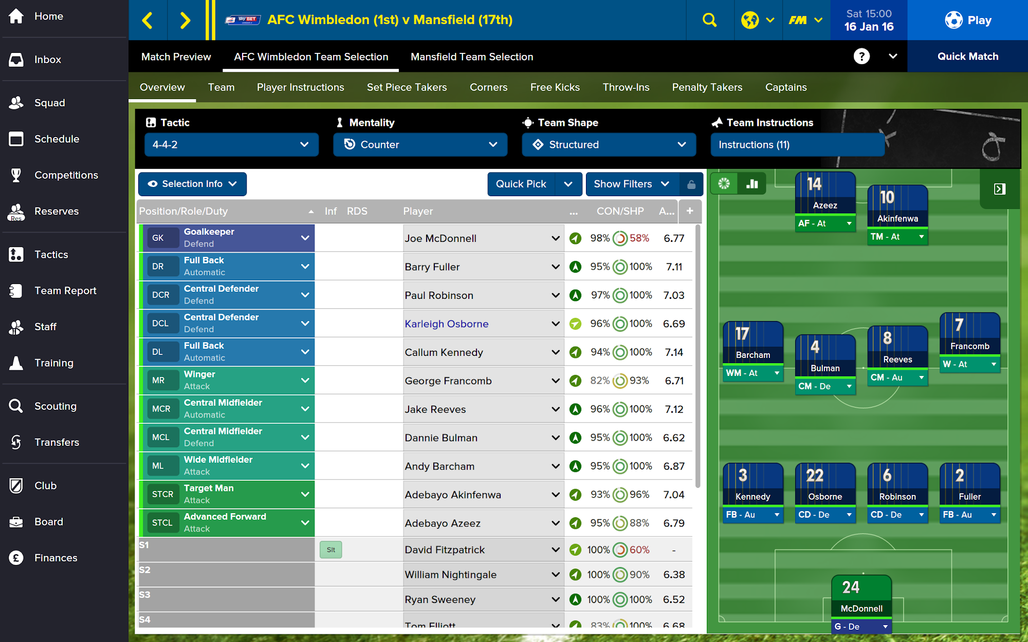 Football Manager Touch 2016 screenshot #8
