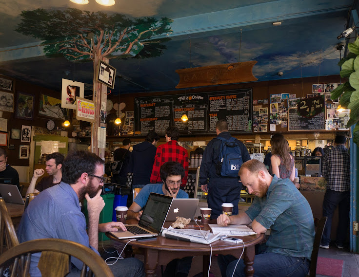 The quirky and techie converge in Philz. Photo: Michael Groves