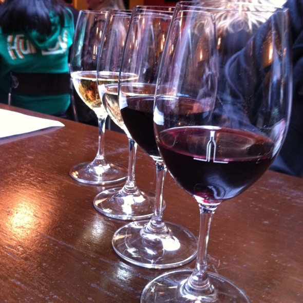 Order a flight of wine.