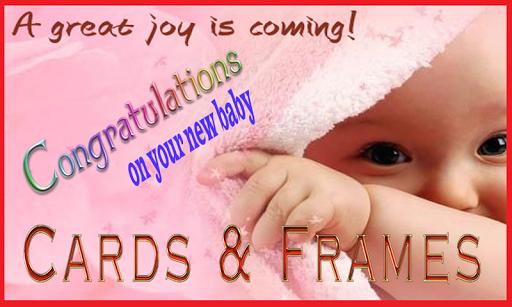 New Born Baby: Cards Frames
