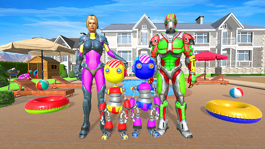 Superhero Robot Family Simulator 3